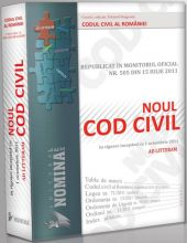 Noul Cod civil, republicat in M. Of. nr. 505/2011 (Ad Litteram) - editie cartonata